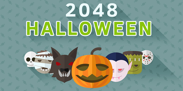 2048 Halloween puzzle game